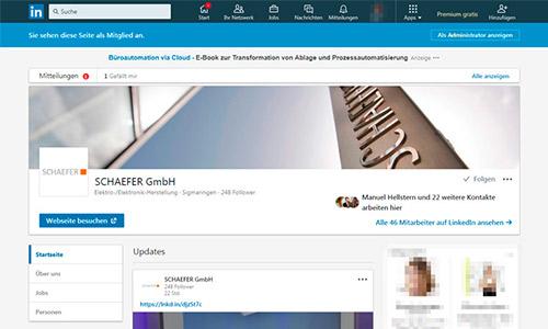 SCHAEFER bei LinkedIn
