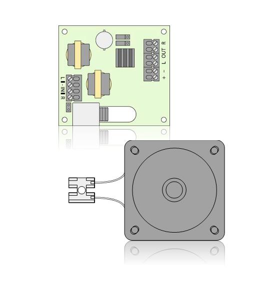Lautsprecher Speaker70 und NF-Verstärker