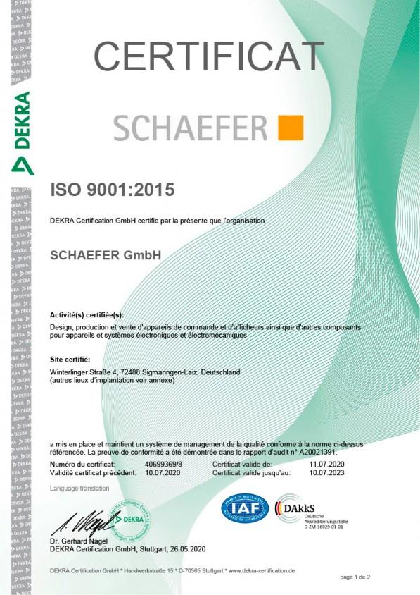 ISO 9001:2015 Zertifikat