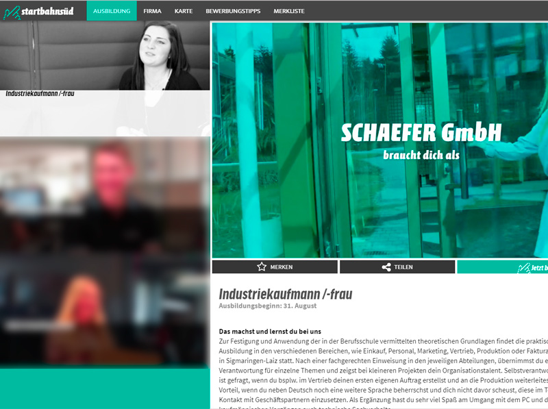 SCHAEFER Ausbildungsvideos bei Startbahn Süd