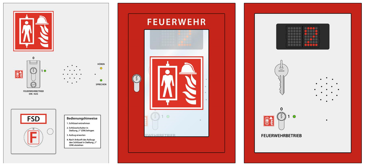 Feuerwehrzugangsebene - Ausführungsbeispiele