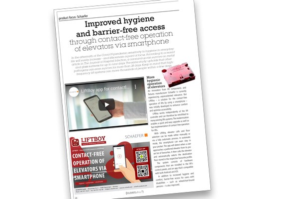 Improved hygiene and barrier-free access