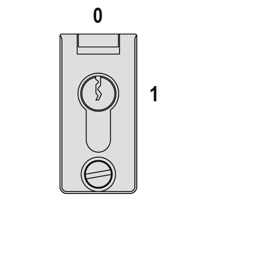 Ausführung, Anordnung und Beschriftung  des Feuerwehrschalters im Fahrkorb